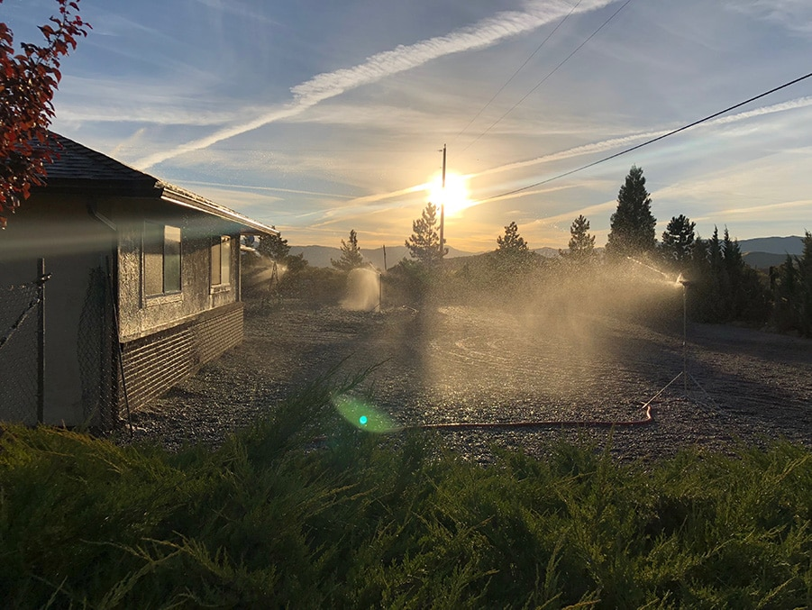 sprinklers outside home