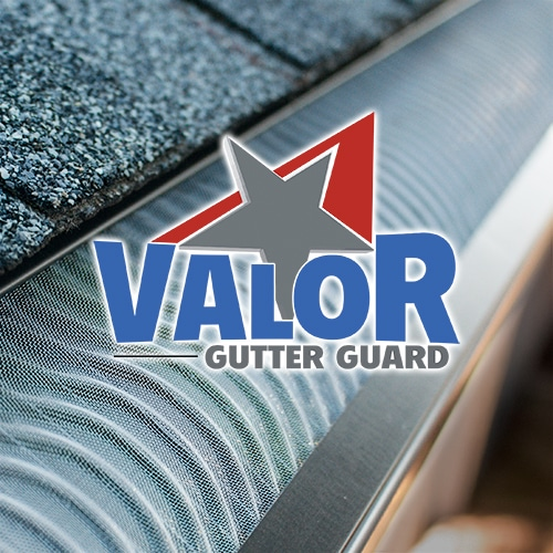 valor gutter guard with logo