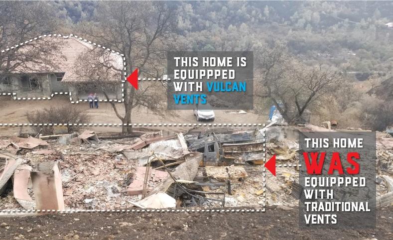 home comparison after fire