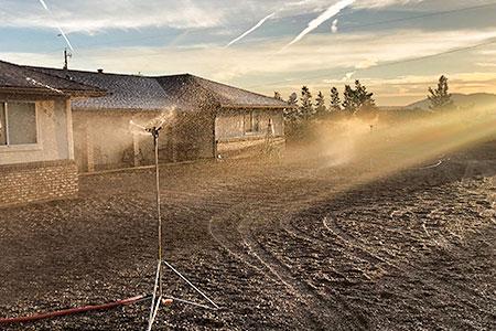Home with sprinkler system