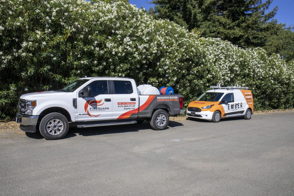fireguard prevention services and ember defense cars