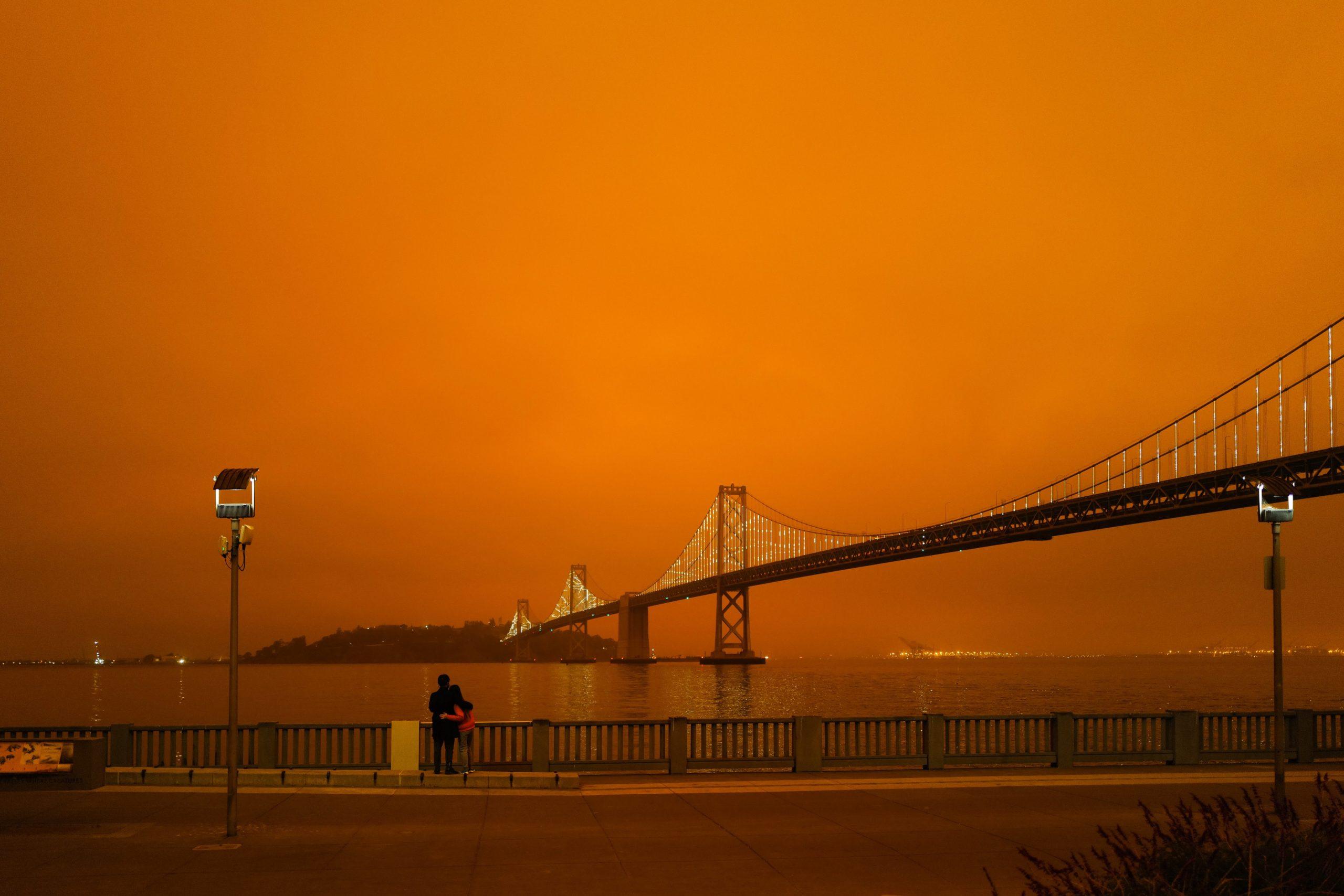 bridge during a fire